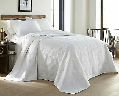 Chezmoi Collection 3-Piece Gray Oversized Quilted Bedspread Coverlet Set