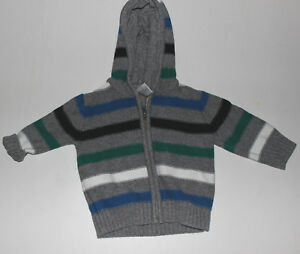 7917b182336 Image is loading Infant-Boys-GYMBOREE -Darling-Hooded-Cardigan-Striped-Sweater-