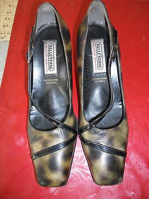 %%% Pumps Von Valleverde Gr. 37 Komplett Leder Mit Fußbett Neu Sonderpreis !! GroßEr Ausverkauf