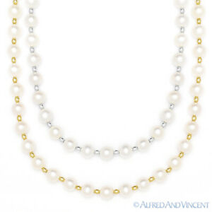 7mm-White-Freshwater-Pearl-Ladies-Beaded-Necklace-in-14k-Yellow-or-White-Gold