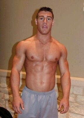 Shirtless Male Athletic Muscular Body Builder Jock Dude PHOTO 4X6 Print C195
