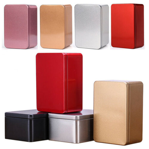 Container Metal Tea Cans Gift Boxes Tinplate Tin Box Small Storage Box