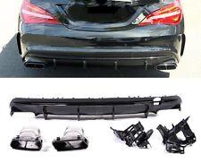 Für Mercedes-Benz CLA W117 CLA45 AMG Night Paket Look Stoßstange Diffusor #68