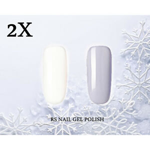 2X-RS-Nail-002053-Gel-Nail-Polish-UV-LED-Shiny-Gray-White-Soak-Off-Professional