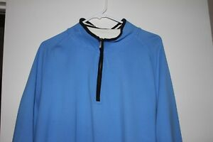 Men-039-s-Golf-Pro-Tour-Pullover-Sweater-Jacket-Size-XL-Light-Blue-1-4-zip