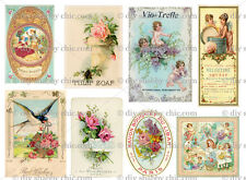 OLD PARIS SOAP STICKER DECALS SHABBY CHIC FRENCH IMAGE TRANSFER VINTAGE LABELS