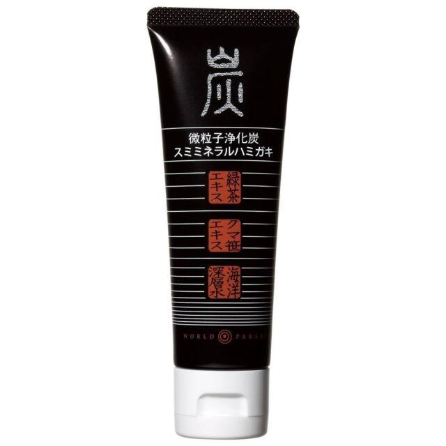 Charcoal Mineral Toothpaste 110 g Sasa albo-marginata & Green Tea extract Japan