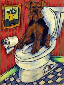 Havanese bath picture  dog art  poster 13x19 GLOSSY PRINT