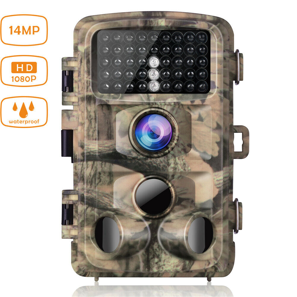 Campark Wildlife Trail Camera  14MP 1080P Waterproof Hunting Cam IR Night Vision  enjoy 50% off