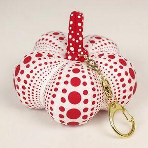 new yayoi kusama red pumpkin mascot plush key chain japan artist