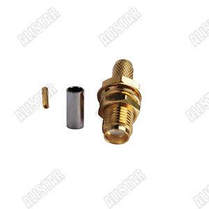 SMA female jack RF Connector female pin crimp for RG58 RG142 RG400 LMR195 cable