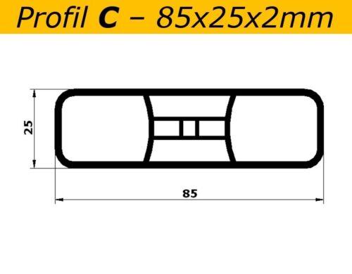 Latten C 85x25x2mm weiss L=84cm Profiware Kunststoffzaun Gartenzaun Staketen