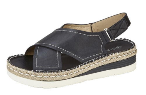 Womens Ladies Leather Look Crossover Strap Slingback Sandals Cipriata Size 3-9