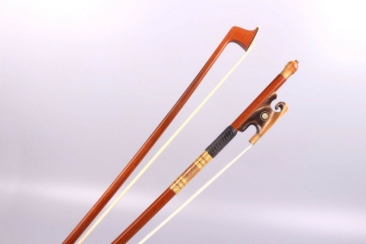 Violin Bow 4 4 Brazilwood red Ox Horn frog Straight Balance Violin parts