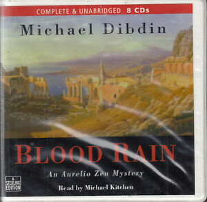 Michael-Dibdin-Blood-Rain-8CD-Audio-Book-Unabridged-Aurelio-Zen-Mystery-FASTPOST