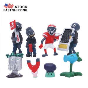 8 PCS//Rock Punk Plants VS Zombies  Action Figure Topper Kids Gift Toys