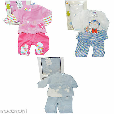 2-teiliges Set Gr. 50 56  Pullover u. Hose Geschenkkarton pink blau Reborn Baby