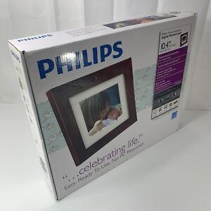 Philips-Digital-PhotoFrame-10-4-034-LCD-Panel-Mocha-Brown-Wood-Frame-SPF3400-G7