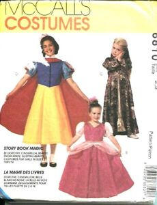 Details about McCall 6810 Princess Costume Pattern-Snow  White-Cinderella-Belle Girls 2-3