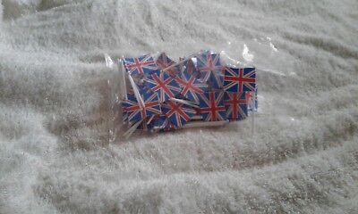 Decorazione Per Torta, Confezione Di Cinquanta Bandiera Union Jack (nuovo Culpit)-k Of Fifty Union Jack Flag (new Culpit) It-it Carino E Colorato