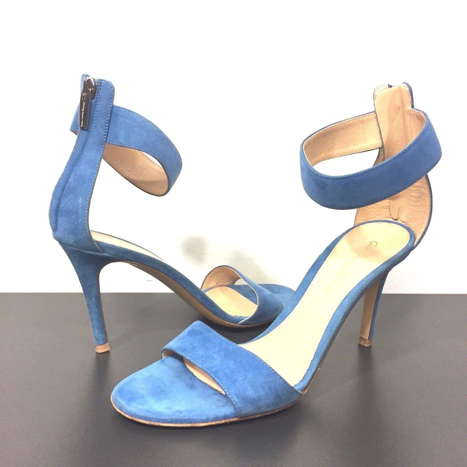 Gianvito Rossi Banda Ancha De Gamuza Tobillo Puño Zapatos De De De Taco Cremallera Azul 37 (precio minorista sugerido por el fabricante  795)  compra limitada