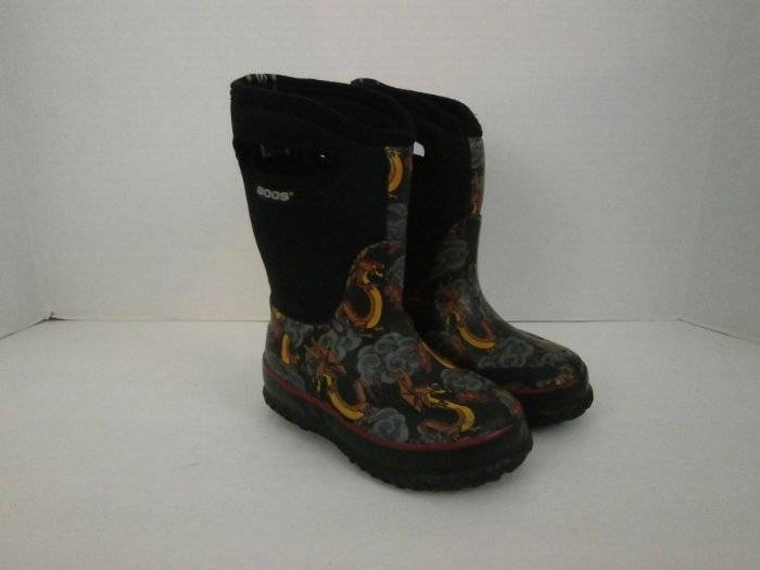 Bogs Boots Classic High Dragon Youth 9 Insulated Winter 52272