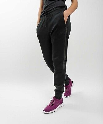 Nike Women S Tech Fleece Jogger Pants Xxl Black Rrp 100 00 Ebay