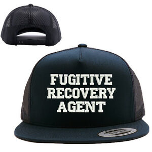 Image is loading FRA-FUGITIVE-RECOVERY-AGENT-MESH-TRUCKER-SNAP-CLOSURE-