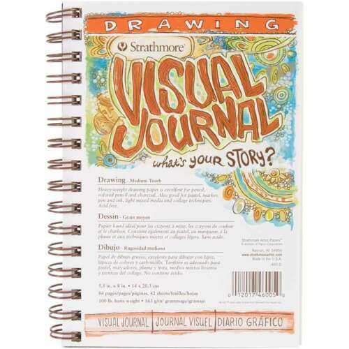 """Strathmore Visual Journal Drawing 5.5/""""X8/"""" 42 Sheets 012017460050"""
