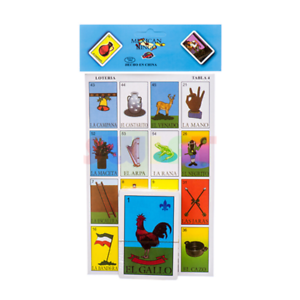 Details about LOTERIA MEXICAN BINGO CARD SPANISH LOTTERY GAME SET 10 BOARDS  54 CARDS BRAND NEW