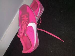 pretty nice 9f890 0e41c Details about WOMENS NIKE CORTEZ PINK SPORTS RETRO RUNNING GYM TRAINERS  SIZE 5.5