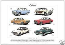 FORD CORTINA 1962-82 - Fine Art Print - A3 size - MkI to MkV models - 1600E Ghia