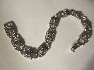 Vintage Sarah Coventry Silver Circle Link Bracelet