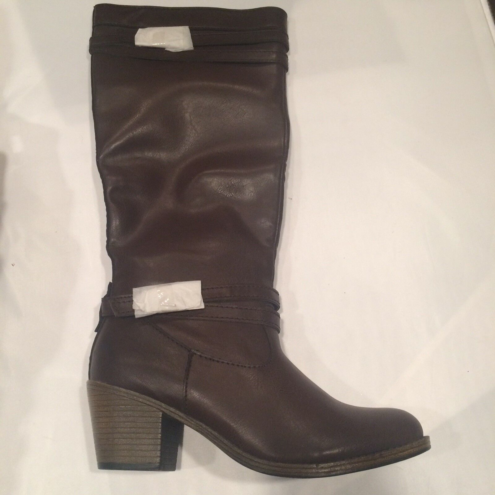 Sonoma Chocolate Brown Size 10 Women's Leather Riding Boots New
