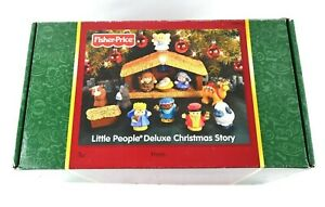 NEW-Fisher-Price-Little-People-Deluxe-Christmas-Story-Set-Light-amp-Sound-Nativity