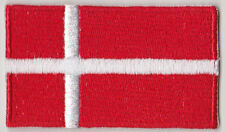 Denmark Country Flag Embroidered Patch T4
