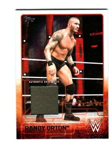 WWE-Randy-Orton-2015-Topps-Event-Used-Shirt-Relic-Card-Grey