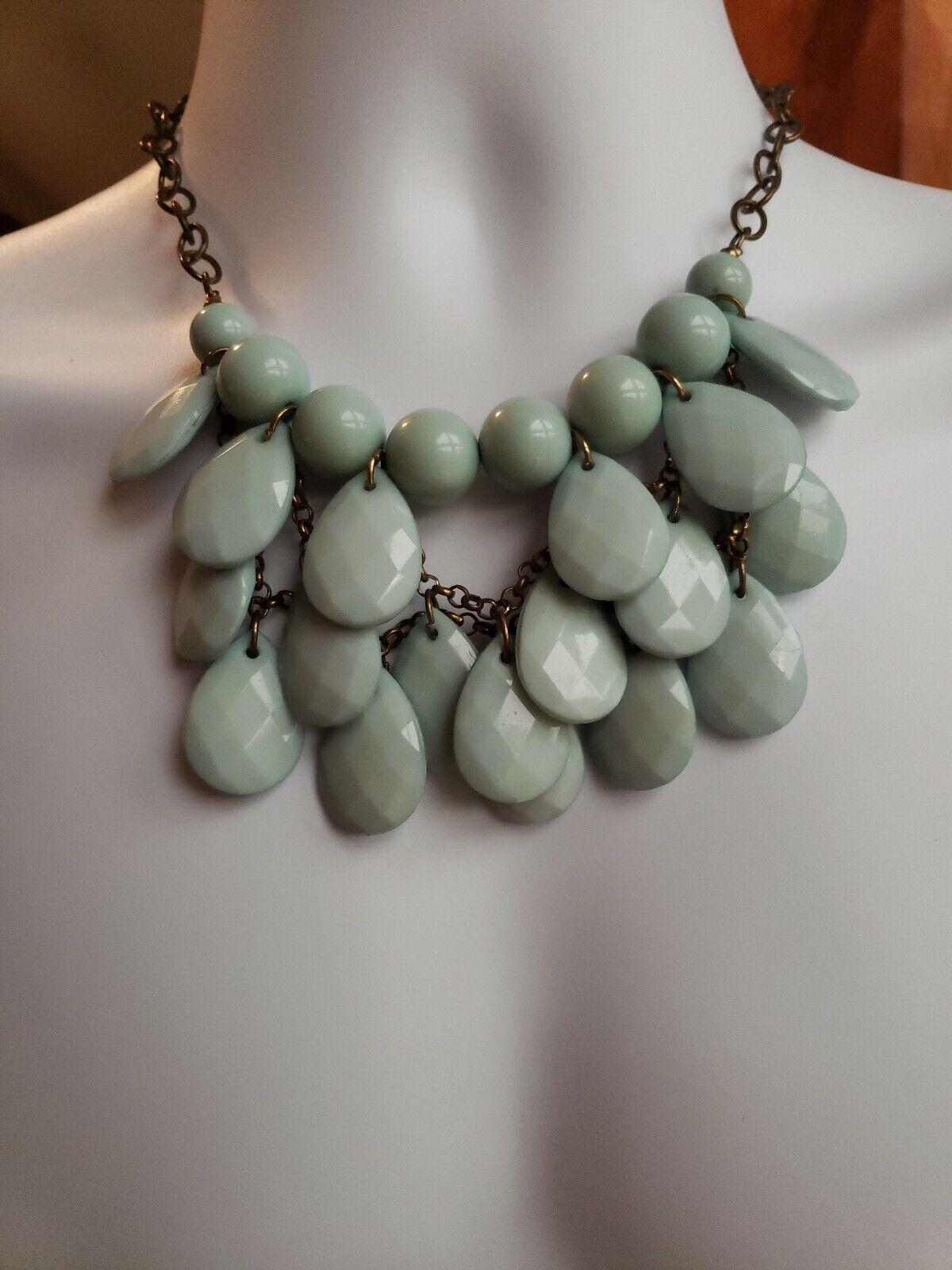 pearly beaded princess strand bracelet set Vintage light blue necklace 1950s costume jewelry pastel light plastic bangle