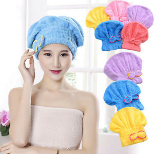 88d6c283594 Woman Shower cap water uptake Dry hair towel Quick dry towels ...