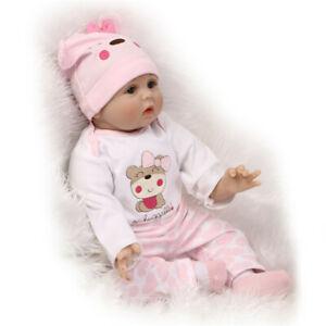 Cute Lifelike Soft Body Doll Toy Handmade Silicone Reborn Babies Girl Doll