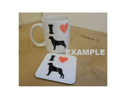 Mug is Personalised with Name I Love Cairn Terrier China Mug and or Coaster