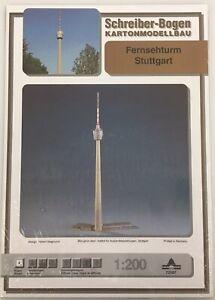 Schreiber-Bogen-Kartonmodellbau-Fernsehturm-Stuttgart-Papier-Modellbausatz