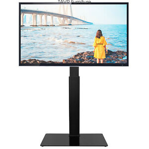 Universal Floor Tv Stand With Swivel Mount For 32 65 Inch Lcd Flat Screen Tvs Ebay