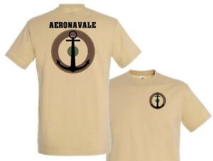 "Prix Pas Cher Tshirt "" Aeronavale "" Rafale Basse Visibilite Sable Pilote Crew T Shirt"