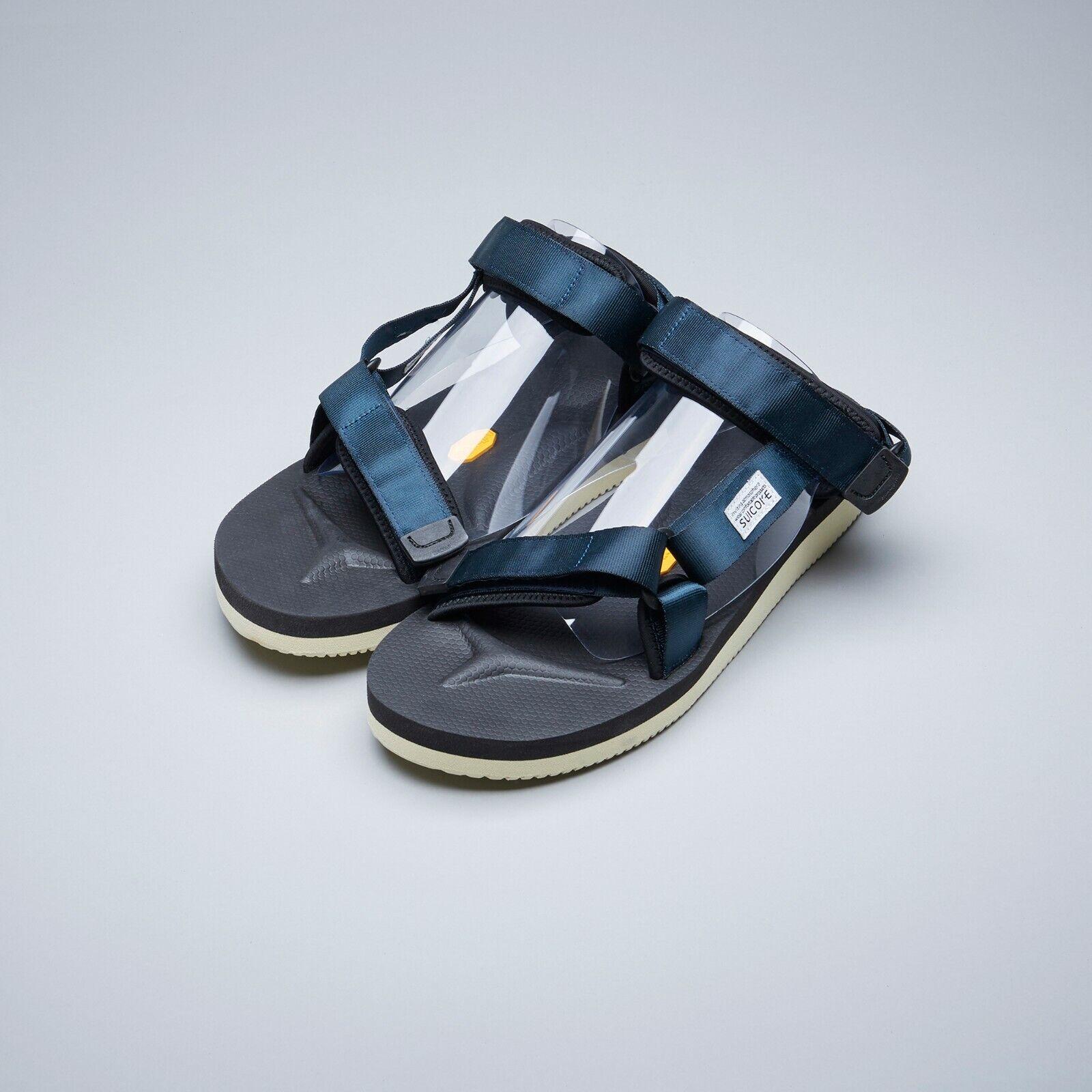 Suicoke OG-022V2   DEPA-V2 Navy bluee Nylon Vibram Sole Sandals Slippers Slides