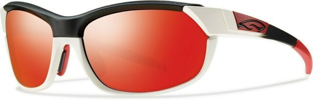0a2586c450e3f Smith Pivlock Overdrive White Red Fade Red Sol  2 Extra Pair Lenses TF4 6Q
