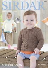 8b93b0584 Sirdar Boys Sweaters Supersoft Knitting Pattern 2447 Aran (sirdar ...