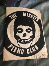 MISFITS Fiend Club OG Envelope & Flyers Danzig NYHC Punk Original.