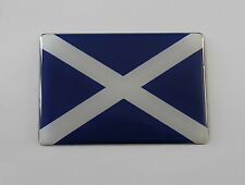 32mm SCOTLAND FLAG Sticker/Decal - WITH HIGH GLOSS DOMED GEL FINISH
