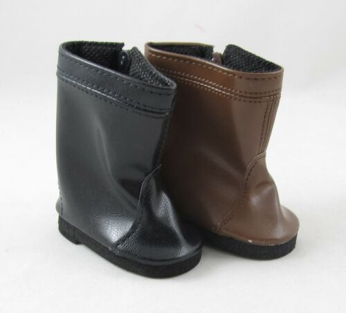 Doll Clothes Side Zip Faux Leather Boots fit 18 Inch American Girl Dolls